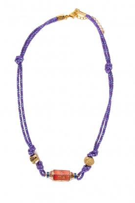 Prayer Accessories | Prayer box necklace | purple