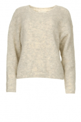 American Vintage | Sweater with dropped sleeve East | beige