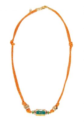 Prayer Accessories | Prayer box necklace | orange