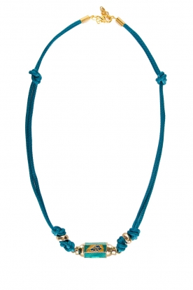 Prayer Accessories | Prayer box necklace | blue