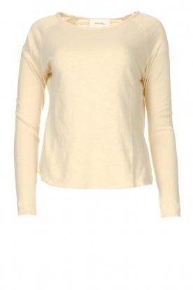 American Vintage    Basic cotton T-shirt Sonoma   beige