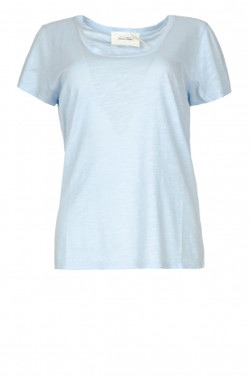 American Vintage |  Basic T-shirt with round neck Jacksonville | skyblue
