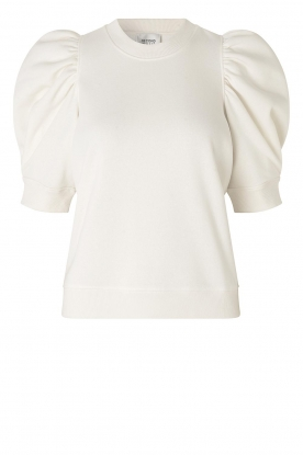 Second Female | Sweater with puff sleeves Miami | white
