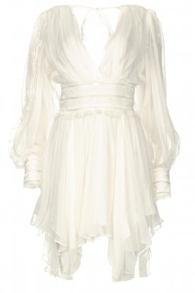 Magali Pascal |  Dress with ruffles and lace Eve | white