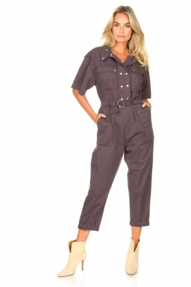 Magali Pascal |  Jumpsuit with buckle detail Dylan | black