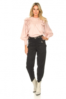 Look Romantic top with balloon sleeves Giselle
