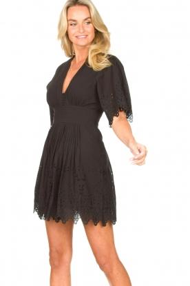 Magali Pascal | Broderie jurk Elise | zwart