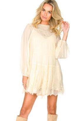 Magali Pascal |  Smocked dress with lace Dalia | natural