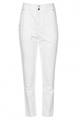 Magali Pascal | Paperbag jeans Sisley | white