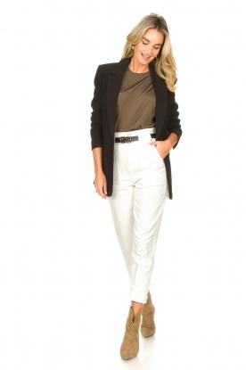 Magali Pascal |  Paperbag jeans Sisley | white