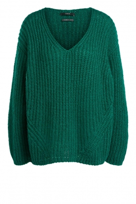 Set | Chunky knitted sweater Saar | green
