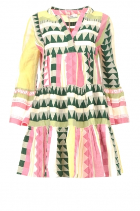Devotion | Cotton dress with print Ella | pink