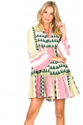 Devotion |  Cotton dress with print Ella | pink
