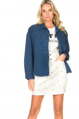 Lois Jeans |  Denim blouse Row | blue