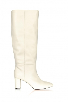 Toral |  High leather boots Christy | white
