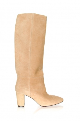 Toral |  High suede boots Christy | beige