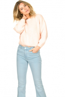 American Vintage |  Knitted cotton sweater Cutebay | light pink
