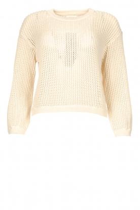 American Vintage |  Cotton broderie sweater Fafpark | ecru