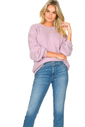 American Vintage |  Knitted cotton sweater Tik | purple