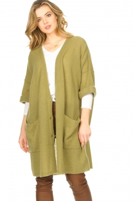 American Vintage |  Basic oversized cardigan Razpark | green