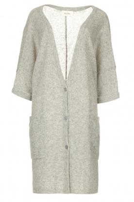 American Vintage    Basic oversized cardigan Razpark   grey