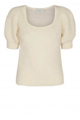 Copenhagen Muse |  Knitted top with puff sleeves Diva | natural