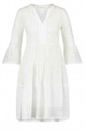 Aaiko |  Cotton embroidery dress Kampur | white