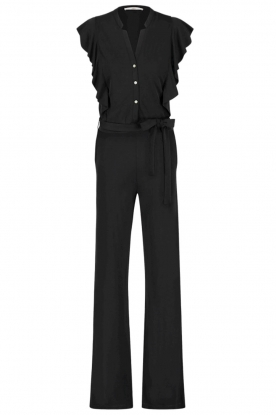 Aaiko | Jumpsuit with ruffles Malina | black