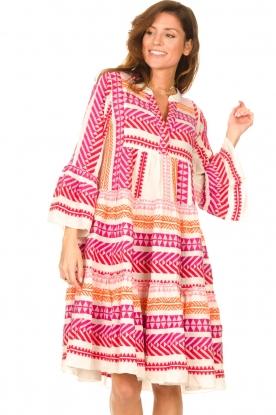 Devotion | Katoenen midi-jurk met print Ella | roze
