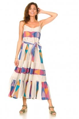 Devotion | Katoenen maxi-jurk met print Bracken | naturel