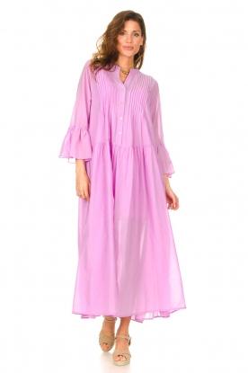 Devotion |  Cotton maxi dress Bella | lilac