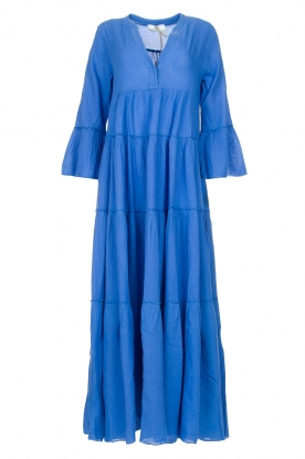 Devotion |  Cotton maxi dress Roos | blue