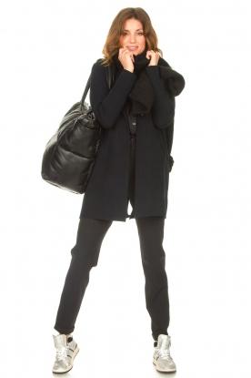 STUDIO AR |  Leather puffer bag Large Gilda | black