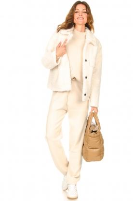 STUDIO AR |  Leather puffer bag Medium Isadora | camel