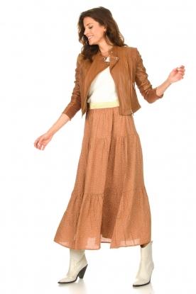Look Maxi skirt with shiny waistband