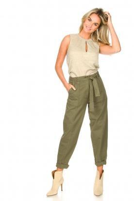 Second Female |  groen | Cargo pants Terry | green