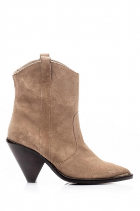 Toral |  Suede ankle boots Elisio | beige