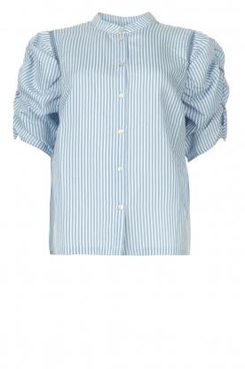 Aaiko |  Striped blouse Taciana | blue