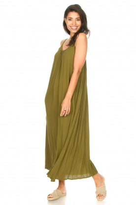 Genesis | Maxi-jurk met crêpe stof Melia | groen