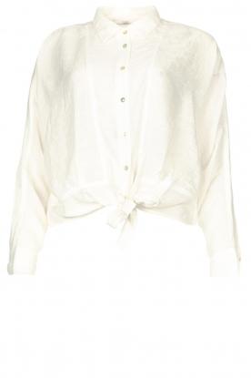 Aaiko |  Blouse with tie detail Vanissa | white