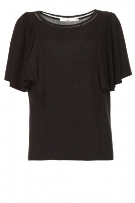 Aaiko |  |Top with butterfly sleeves Venira | black