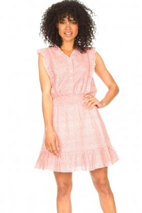 Aaiko |  Dress with ruffles Fajenna | white