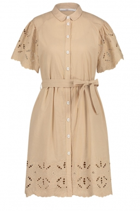 Aaiko | Broderie dress Caima | beige