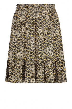 Aaiko | Skirt with floral print Mabel | black