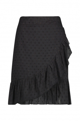 Aaiko | Cotton skirt with lurex Salienta | black
