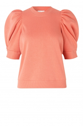 Second Female | Sweater with puff sleeves Miami | coral