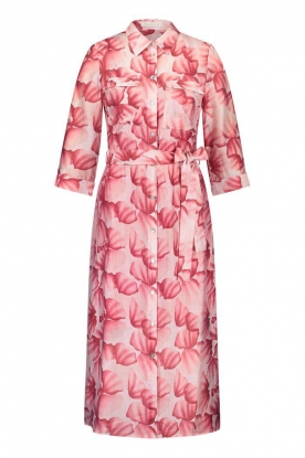 Freebird | Midi dress with print Victoria | pink