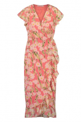 Freebird | Midi dress with floral print Rosy | pink
