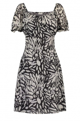 Freebird | Dress with floral print Elissa | black