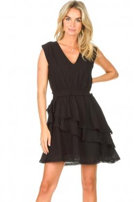 Freebird | Katoenen jurk Kyona | zwart